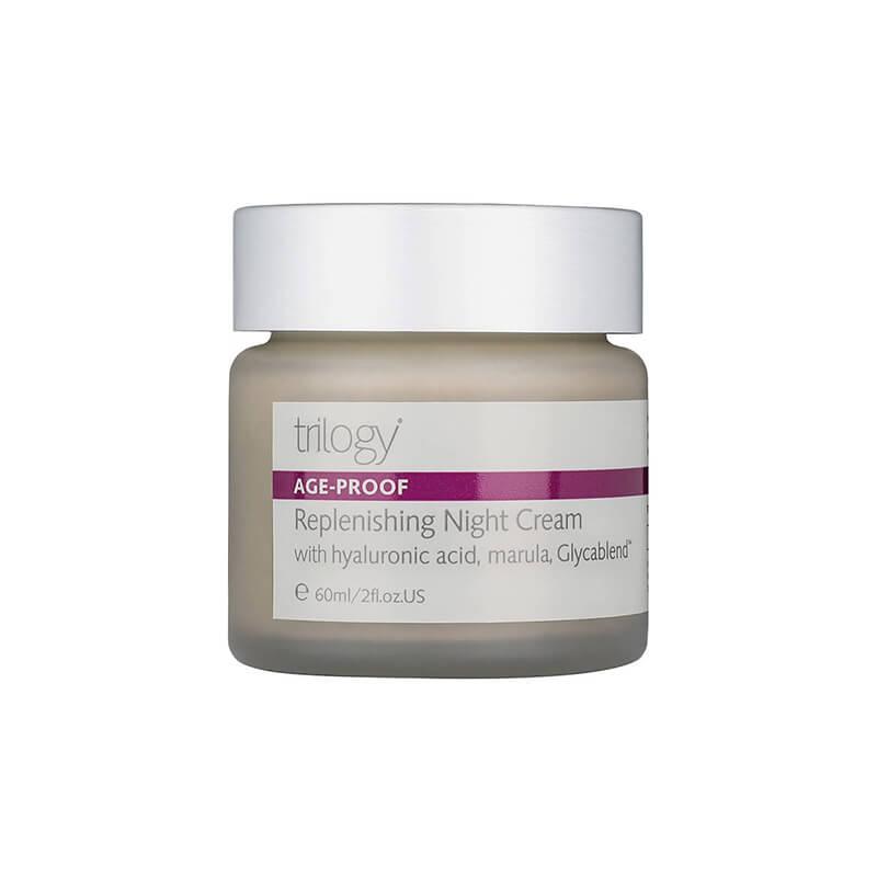 Nočna krema, ki regenerira in pomladi vašo polt s hialuronsko kislino, marulo in Glycablend